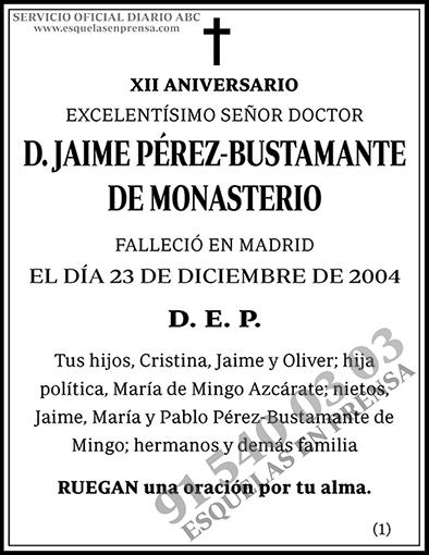 Jaime Pérez-Bustamante de Monasterio
